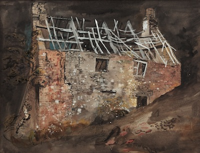 A Ruined Cottage, 1941. Please click to see an enlarged image