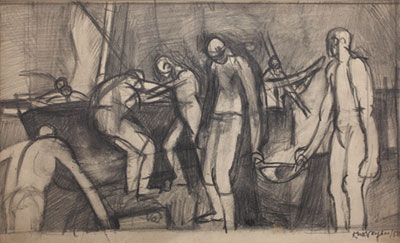 Study for Painting, 1950. Please click to see an enlarged image