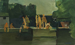 Bathers at Highgate II, 1955. Please click to see an enlarged image
