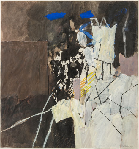 Landscape with Acrobats II, 1965. Please click to see an enlarged image