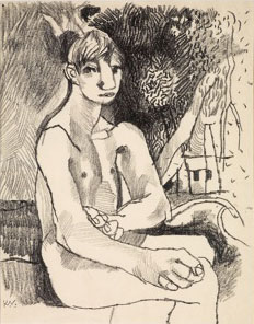 Seated Boy in a Landscape, 1948. Please click to see an enlarged image