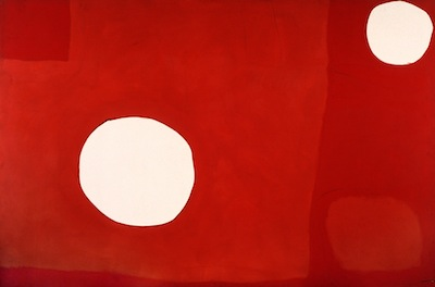 White Discs in Two Reds, 1962. Please click to see an enlarged image