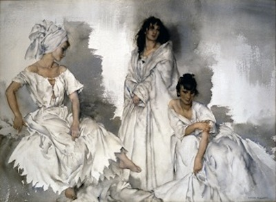 Caprice in White: Two Idlers and a Saint. Please click to see an enlarged image