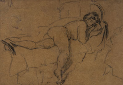Reclining Nude, c 1905. Please click to see an enlarged image